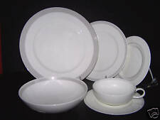 CALVIN KLEIN Herringbone Fine China 6 Piece Place Setting for 4 New