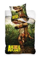 Animal Planet Dinosauro Copertina singola Duvet T-rex Foresta 100 cotone (g0l)