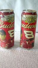 2 DALE EARNHARDT JR #8 Budweiser Collectible Beer Cans, VERY NICE MUST HAVE