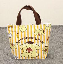 Pom Pom Purin yellow handbag tote lunch bag storage bags U258 anime new