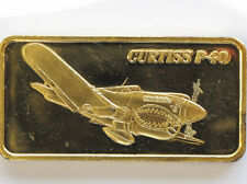 1974 Curtiss P-40 GP Silver Bar HAM-638G Hamilton Mint World of Flight P1517