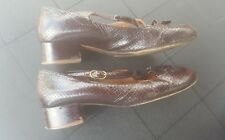 Chie Mihara Vintage Shoes  brown block low heel  Leather Size 40 uk 6.5 straps