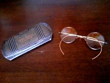 Vintage Antique Bifocals in Case Indiana Optical Co Meridian St Indianaoplis