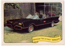 1974 FLEER KUSTOM CARS MOVIELAND HALL OF FAME BATMOBILE STICKER REPRINT - BATMAN