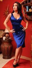 Pinup Girl Clothing/Pinup Couture Greta Dress in Royal Blue XS EUC (Pre-Monica)