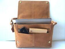 Mens Leather Laptop Bag Messenger Bag Shoulder Bag Womens Bag