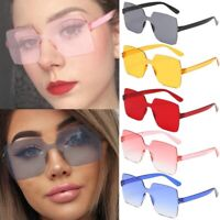 Oversized Square Rimless Sunglasses Fashion Frameless Sun Glasses Women Eyewear