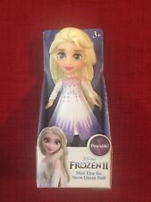 "Disney Frozen 2  NEW RELEASE 3"" Mini Poseable Elsa The Snow Queen Doll HTF"
