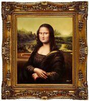 Ölbild Mona Lisa - Leonardo da Vinci, Ölgemälde HANDGEMALT Gemälde F: 50x60cm