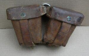 Bulgarien Original Leder Patronentaschen für Mosin Nagant aus dem 2 WK Russ.mod.