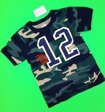 "NEW! ""Tiny Tough Guy"" Baby Boys Graphic Shirt 2T Gift! Camouflage Nice 12 Army"
