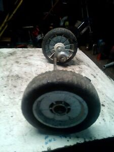 HONDA HR194 FRONT AXLE AND WHEELS