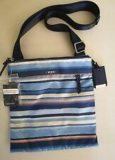 TUMI Voyageur Calera Stripe Nylon Crossbody Bag