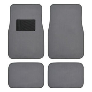 4pc Auto Interior Medium Gray Car Floor Mats Liner Pads Utility Mat Standard Fit