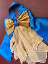 Concours d'elegance hat bow and drape, Royal blue and gold