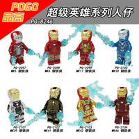 Bausteine Sammeln The Avengers Iron Figur Kinder  DIY Spielzeug Modell 8PCS