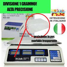BILANCIA ELETTRONICA DIGITALE 40 KG 1GRAMMO 1G BATTERIA INTEGRATA PROFESSIONALE