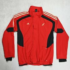 Mens Adidas Predator Climacool Zip Windbreaker Track Jacket Size MEDIUM Red Gold