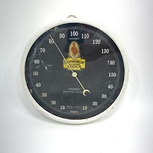 Vintage Red Goose Shoe Friedman Shelby Thermometer Sign Glass Round READ