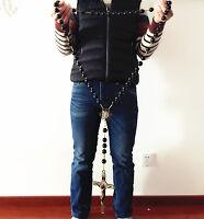 Large 20mm Black Ebony Wooded beads Wall Rosary Catholic crucifix cross Gift box