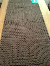 """VCNY Barron Braided Cotton Chenille Rug Runner 24 x 60"""" Taupe Brown"""