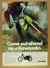 1972 Kawasaki 350 Enduro Motorcycle photo vintage print Ad