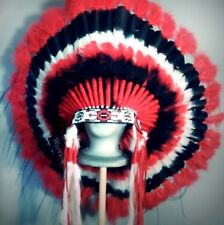 Native American COMANCHE Feather Headdress War Bonnet