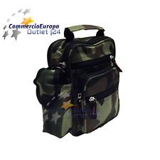 Tracolla borsello Mimetica Camouflage Unisex Verde Hunt Shoulder Bag Army STOCK