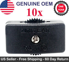 10x Zing Ear KS-30 Feed Thru Cord Inline Switch SPT-2 Lamp On Off 125V 6A Black