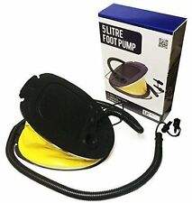 Camping Outdoor Travel 5 Litre Foot Pump Step Air Pump Inflatables Boat 3 Valves