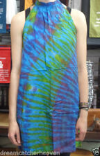 Women's Tie Dye Halter Sleeve Dresses