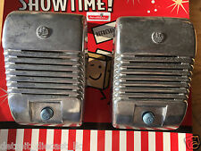 2 New RCA Drive-In Movie Car Show Prop Speaker Casting Set With Blue Knobs