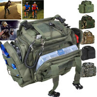 Fishing Tackle Bag Waist Shoulder Tactical Pack 900D Green Water Resistant **.