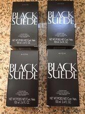 LOT OF 4 AVON BLACK SUEDE COLOGNE SPRAY 3.4 FL OZ NIB
