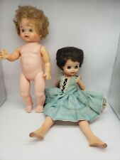 "Lot of 2 50'S VINTAGE 12"" 14 1/2"" DOLLS FOR Used condition Read Description"