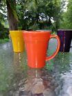 LATTE bistro MUG CUP poppy orange FIESTA WARE 18 OZ new