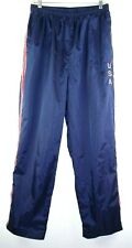 USA Track Pants Size Large Women Lined Running Athletic Activewear