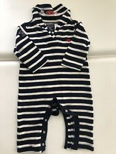 Weekend A La Mer Baby One Piece Nautical Theme Navy Striped Jumper Size 9 Months