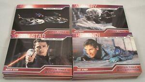 Star Trek ENTERPRISE , TNG & ALIENS Complete Trading Card Sets