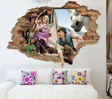 Tangled 3D Wall Decal, Disney Wall Sticker, Removable Vinyl Sticker