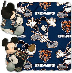 Chicago Bears Mickey Hugger and Fleece Throw Set