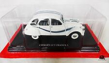 Miniature IXO Voiture CITROEN 2CV France 3 1983 Echelle 1/24e Diecast Metal