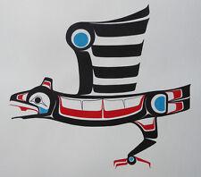 "Northwest Coast Canadian native artist Ben Houstie ""Eaglel"" Original Art"