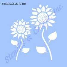 """SUNFLOWER STENCIL SUNFLOWERS STENCILS FLOWER LEAF CRAFT TEMPLATE NEW 8"""" x 10"""""""