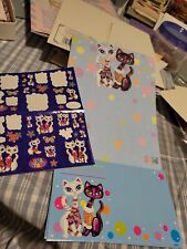 Lisa Frank Vintage Stationary Set Including Stickers ...CATS motifs