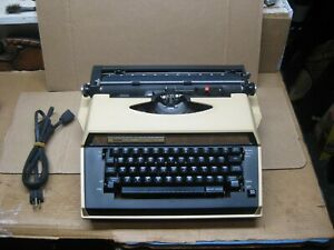 Brother Cassette Tan Correct-O-Riter  Portable Electric Typewriter w/ Case Works