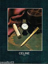 PUBLICITE ADVERTISING 115  1978  CELINE  boutique  stylos montre briquet