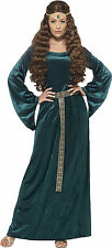 Green Medieval Maid Costume Ladies Fancy Dress Size 8-26 Headband Smiffys 45497 XL - Extra Large