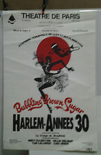 AFFICHE ORIGINALE ANCIENNE HARLEM ANNEES 30 BROADWAY JAZZ THEATRE DE PARIS 1978