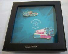 Orig. 2er Pin Set  Olympische Spiele LONDON 2012 - KANU / in Box  !!  RARITÄT